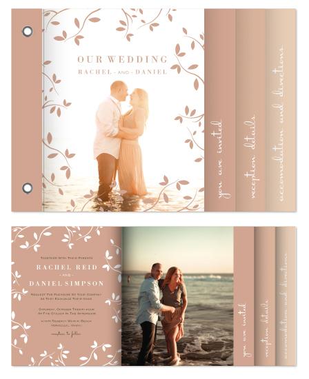 minibook cards - Botanical Blush by Kampai Designs