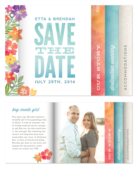minibook cards - Tropical Date by Hooray Creative