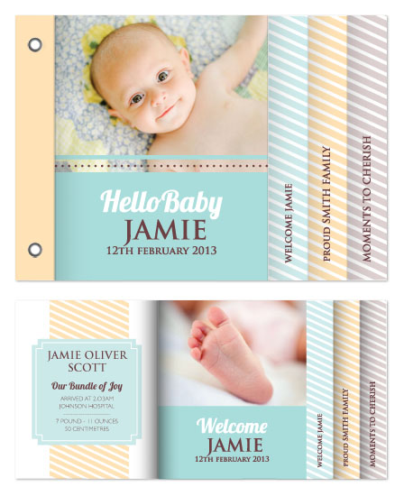 minibook cards - Hello Baby by Katherine Tootell