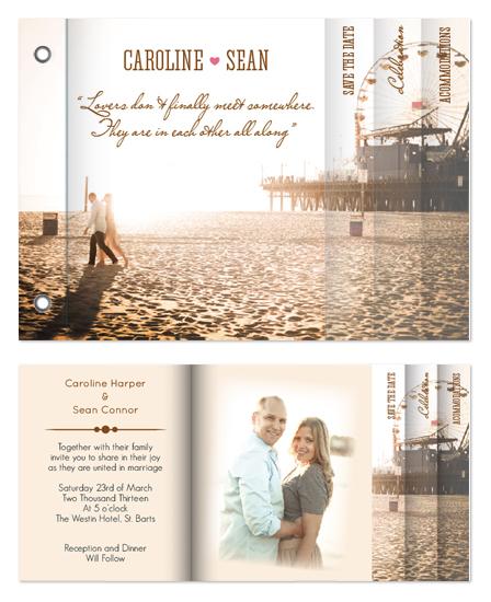 minibook cards - Lovers Wedding Minibook Invitation by Ana Blanco