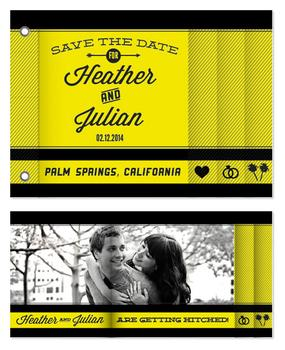 Font and Icon Save the Date Wedding Minibook