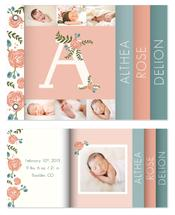 floral monogram with ph... by Alana Stites
