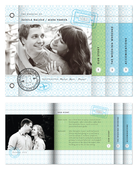 minibook cards - Passport Wedding by Alethea and Ruth