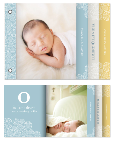 minibook cards - Baby Dots by Malena Southworth