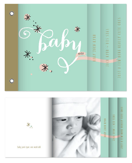 minibook cards - Baby Pics by Susan Brown