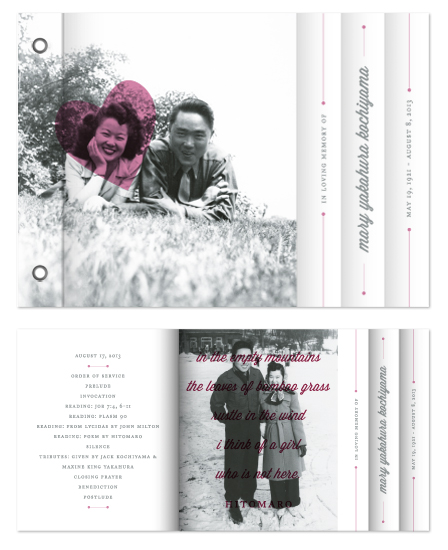minibook cards - Modern Memoriam by Up Up Creative