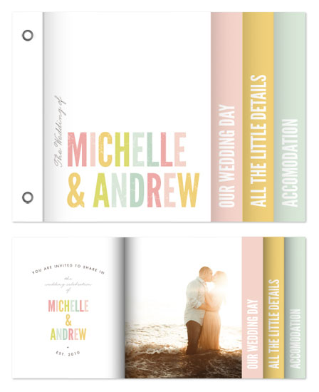 minibook cards - Ice Cream Parlor Wedding Invitation by Phrosne Ras