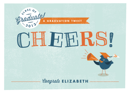 greeting card - Graduation Tweet by Lori Wemple