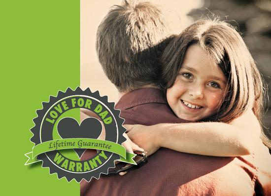 greeting card - Love Warranty Dad by Marnie Bello