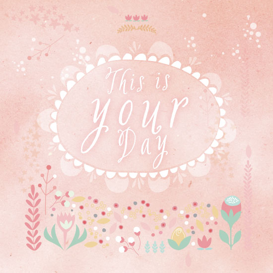 greeting card - Your Special Day by Phrosne Ras
