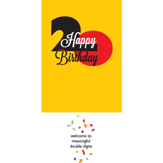 greeting card - Happy Birthday 20 - boy by Bob Nall