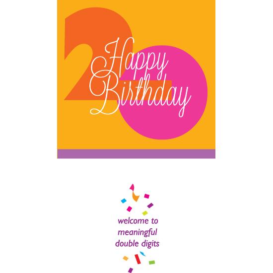 greeting card - Happy Birthday 20 - girl by Bob Nall