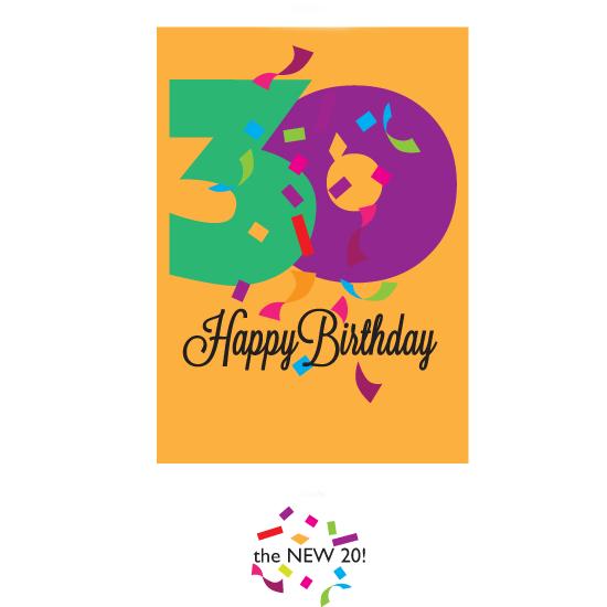 greeting card - Happy Birthday 30 by Bob Nall