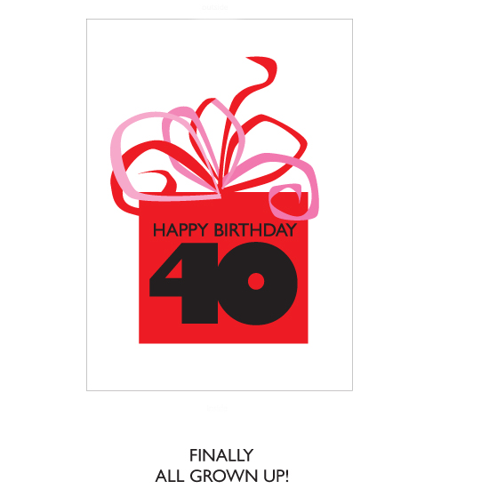 greeting card - Happy Birthday 40 by Bob Nall