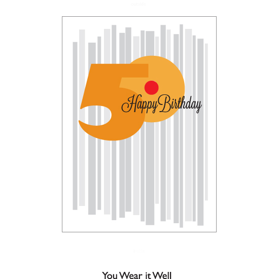 greeting card - Happy Birthday 50 by Bob Nall