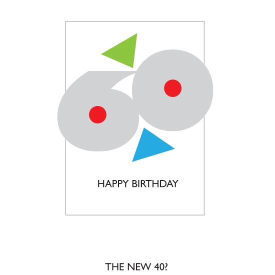 greeting card - Happy Birthday 60 by Bob Nall