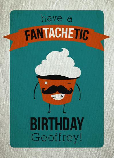 greeting card - Fan(tache)tic by Josh Malchuk