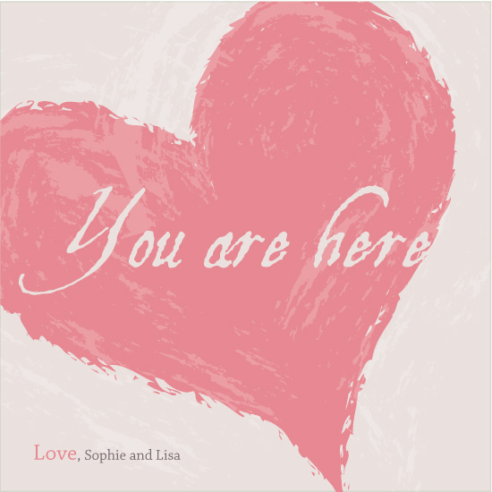 greeting card - You Are Here by Elina