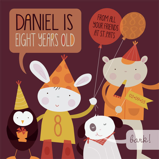 greeting card - Animal Party by Danielle Hartgers
