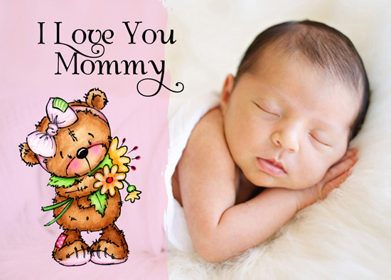 greeting card - Teddy Bear I Love You Mommy by Olivia A Kneibler