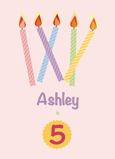 greeting card - Birthday Candles by Kathlyn Starbuck
