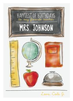 Teacher's Birthday Card
