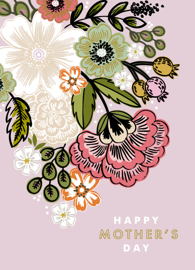 greeting card - Flower Bouquet by Alethea and Ruth