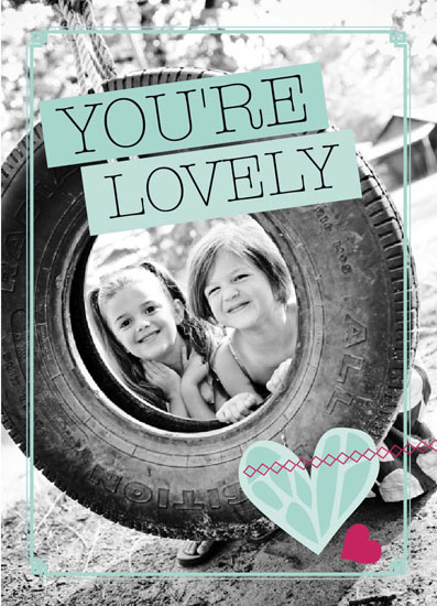 greeting card - You're Lovely by Katherine Tootell
