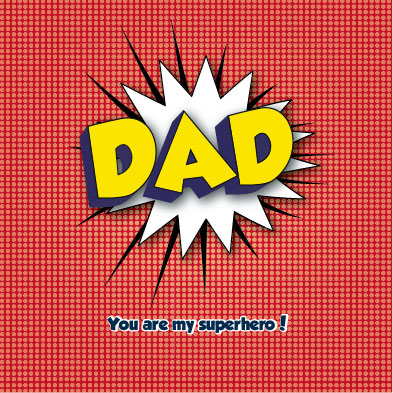 greeting card - Superhero Dad by Tami Warrington