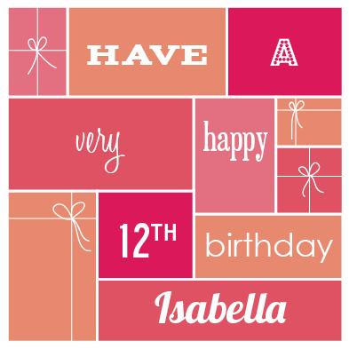 greeting card - Birthday Gift Grid by Hillegien