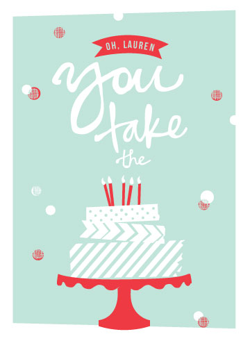 greeting cards - Washi Tape Birthday Cake by Abby Munn