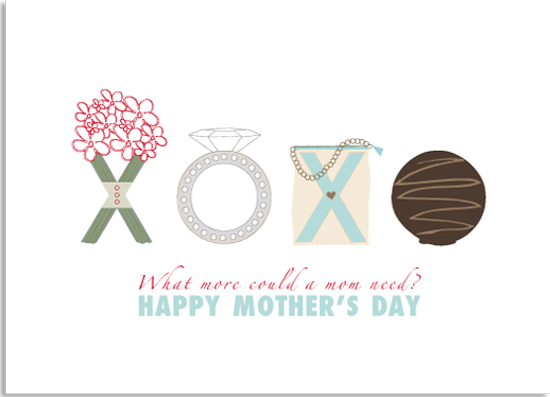 greeting card - XOXO MOM by Marnie Bello