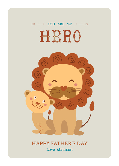 greeting card - You Are My Hero by Anais Lee
