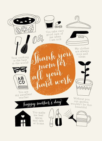 greeting card - thank you mom for all your hard work by iamtanya
