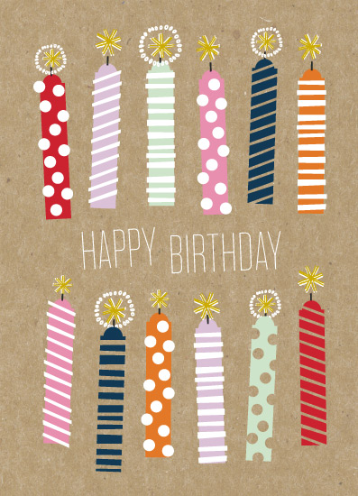 greeting card - Kraft Candles by Alethea and Ruth