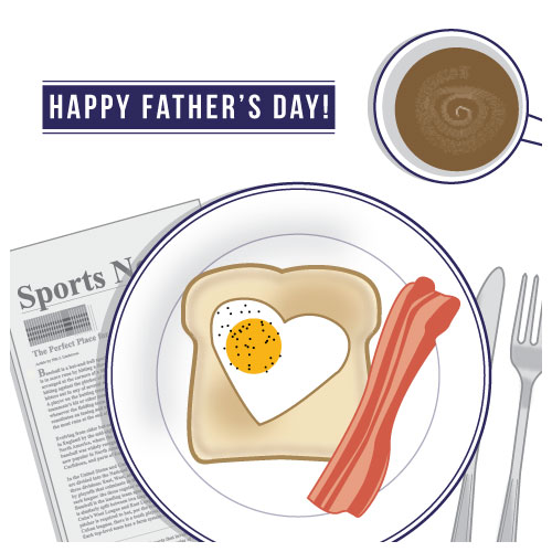 greeting card - Breakfast for Father's Day by Rebecca Schyllander