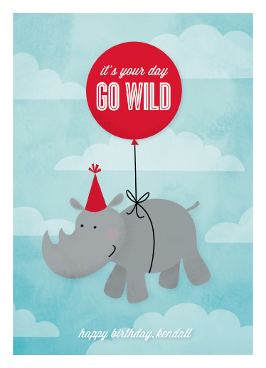 greeting card - go wild by Susan Asbill