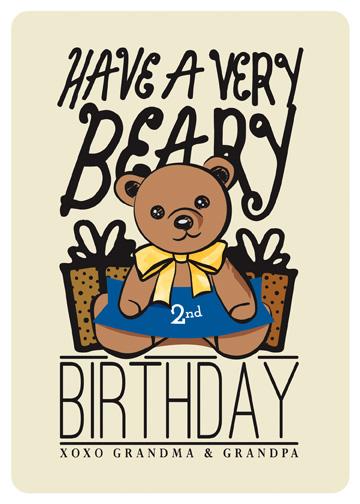 greeting card - Birthday Bear by Christina Novak