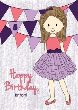 Tutu Girl Birthday Card