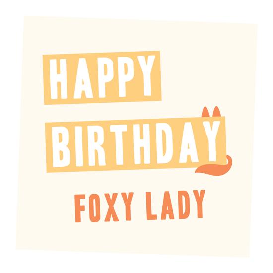 greeting card - Foxy Lady by Deïaneira Design