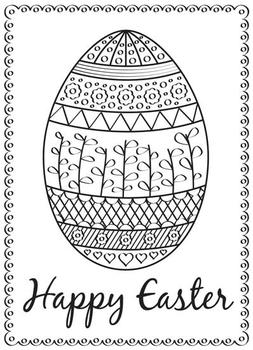 Easter Egg Coloring Card