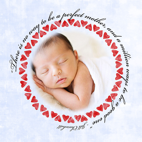 greeting card - Perfect Mother With Hearts by Suebelle Designs