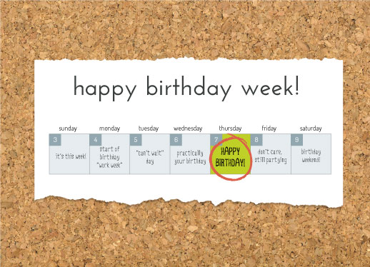 greeting card - Birthday Week by Kelly Sikkema