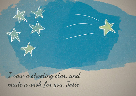 greeting card - Shooting Stars for You by Kelly Sikkema