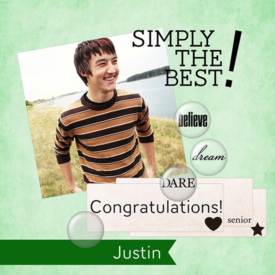 greeting card - Simply The Best Graduation Card by Suebelle Designs