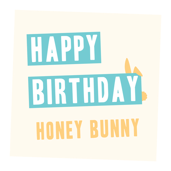 greeting card - Honey Bunny by Deïaneira Design