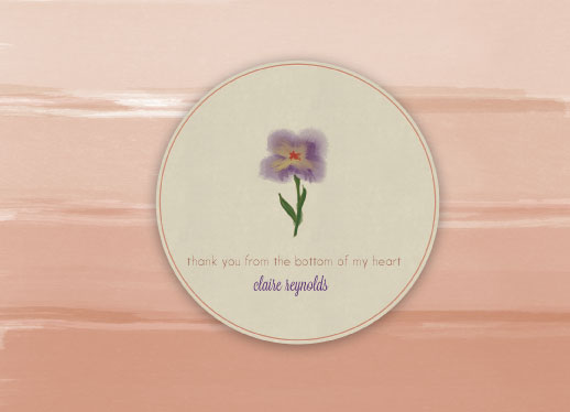 greeting card - Ombre Watercolor Flower by Kelly Sikkema