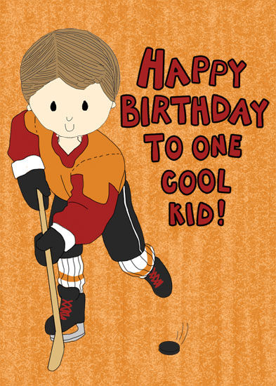 greeting card - Hockey Boy Birthday by Stacey Montgomery