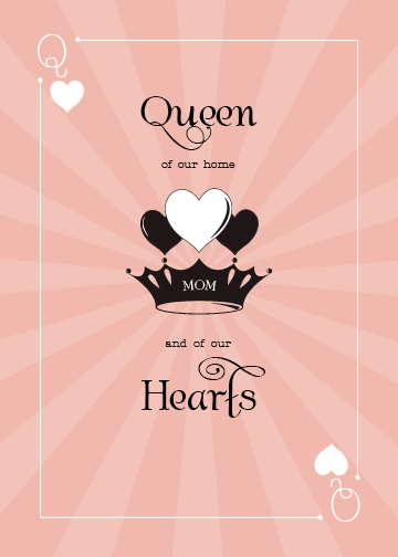 greeting card - Queen of our Hearts by Tami Warrington