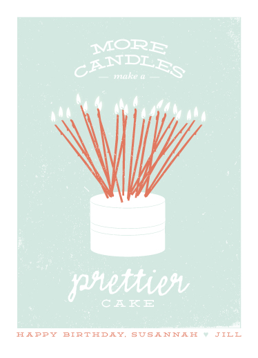 greeting card - Prettier Cake by Up Up Creative